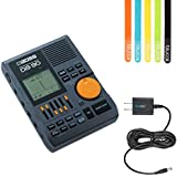 Boss DB-90 Dr. Beat Metronome - INCLUDES - Blucoil Power Supply Slim AC/DC Adapter for 9 Volt DC 670mA AND 5 Pack of Cable Ties