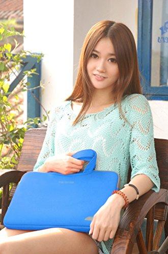 YiJee Mujer Maletín Universal para Portátil Tablet de 11 -15 Pulgadas 15 Inch Azul