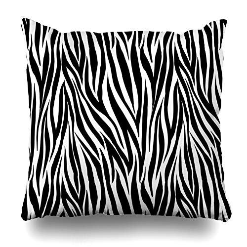 DIYCow Throw Pillows Covers Zebra Design Wild Stripes Cushion Case Pillowcase Home Sofa Couch Square Size 18 x 18 Inches - Zebra Cover Blue