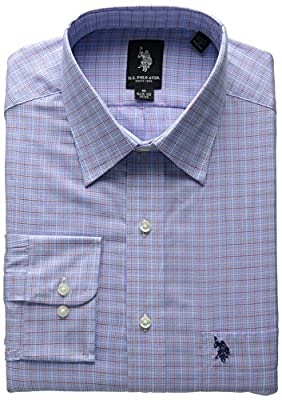 U.S. Polo Assn. Men's Blue White Red Plaid