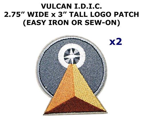 Costume D'assassin (2 PCS Star Trek Vulcan I.D.I.C. Theme DIY Iron / Sew-on Decorative Applique Patches)
