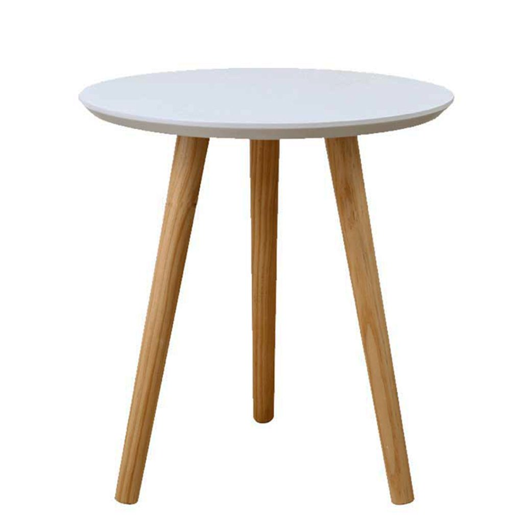 Small round table A few corners of the sofa A few coffee tables Side tables Balcony bed small tables Solid wood tables Thickened desktop (Color : White, Size : A.40423.5CM)
