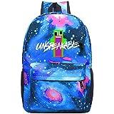 Galaxy Starry Sky Royal Blue_Unspeakable Backpack School Bag Daypacks For Student Boy Girl Blue
