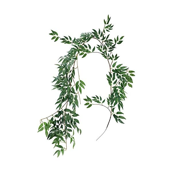 Supla-57-Feet-Artificial-Hanging-Willow-Leaves-Vines-Twigs-Fake-Silk-Willow-Plant-Leaves-Garland-String-in-Green-for-IndoorOutdoor-Wedding-Decor-Jungle-Party-Supplies-Greenery-Crowns-Wreath