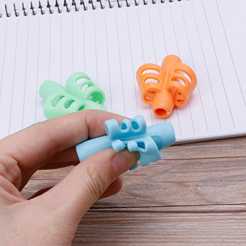 Su Qiao 3Pcs Pencil Grips,Two-finger Grip Silicone Pencil HolderHandwriting Tracing Writing Correction by Su Qiao (Image #4)