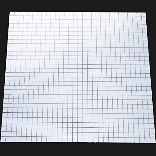 SATINIOR 800 Pieces Self-Adhesive Mini Square Glass, Decorative Craft DIY Accessory Mirrors Mosaic Tiles, 1 x 1 ()