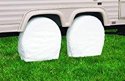 Classic Accessories 76220 RV Wheel Cover, Pair, White, 19\