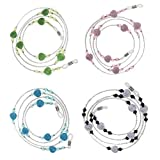 MagiDeal 4 Pieces/Set Gorgeous Beaded Eyeglass Chain Holder Sunglasses Spectacles Lanyard Necklace for Women Girls