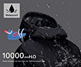 Wantdo Womens Mountain Waterproof Fleece Ski Jacket Windproof Rain Jacket, Black, XX-Large