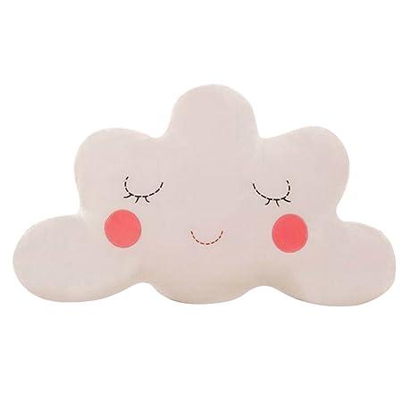 Pu ran - Cojín con forma de nube para decoración del hogar, peluche, 3#, talla única