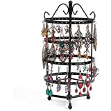 Niome Rotating Hole Black Earrings Holder Eardrops Dangler Display Stand Ear Jewerly Organizer