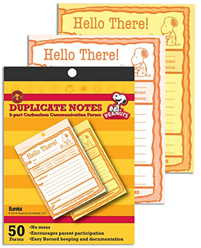 Eureka Peanuts Hello There Duplicate Notes Large (863203)