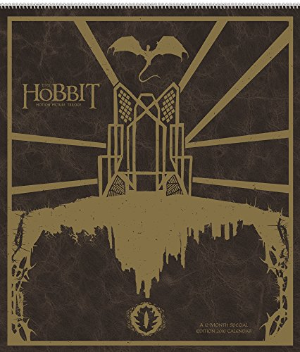 The Hobbit Motion Picture Trilogy Wall Calendar (2016) (The Hobbit The Desolation Of Smaug Bard)