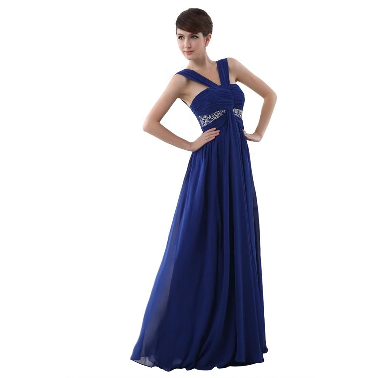 Favebridal Women's Pleated Empire Line Birdemaid Prom Dress