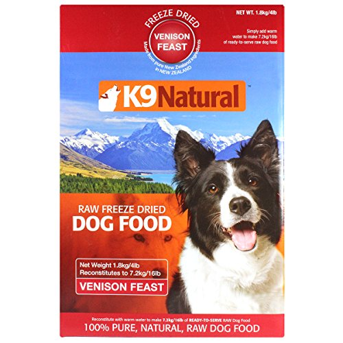 K9 Natural Freeze Dried Pet Food, 4-Pound, Venison