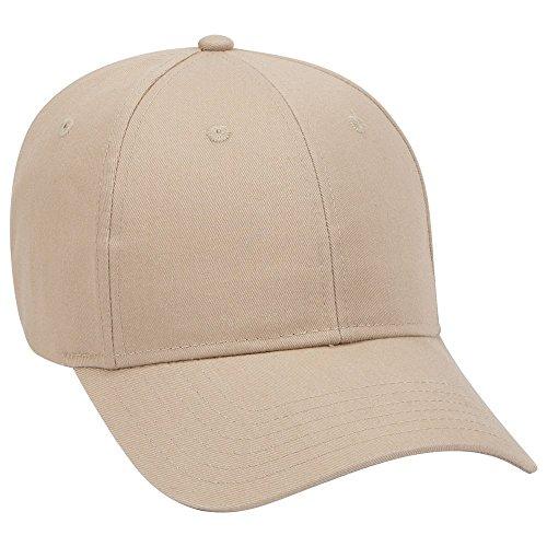 6 Panel Twill Cap (Otto Brushed Cotton Blend Twill 6 Panel Low Profile Baseball Cap - Khaki)