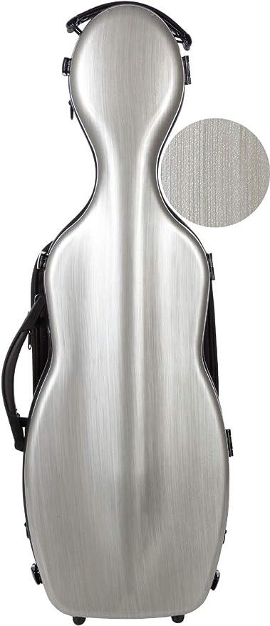Estuche para violín fibra Steel Effect 4/4 silver M-Case: Amazon.es: Instrumentos musicales