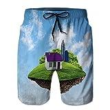 Men's Beach Home Shorts,Little fine Island Planet Loose Shorts