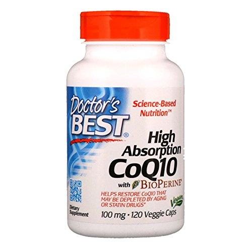 Caps Mg 100 Vegetarian (Doctor's Best High Absorption CoQ10 (100 mg), 120 Veggie Caps)