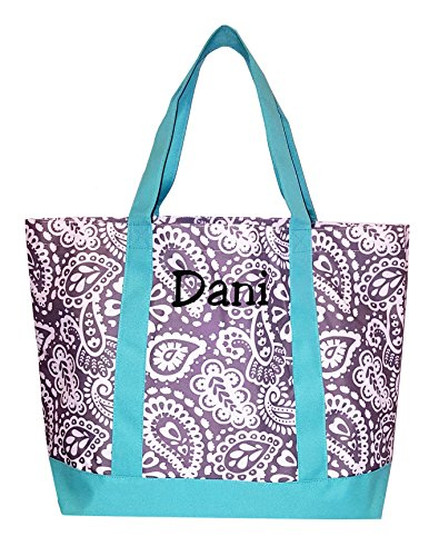 Fashion Heavy Duty Canvas Tote Bag Can be Personalized (Monogrammed Embroidery, Parker (Monogrammed Bag)