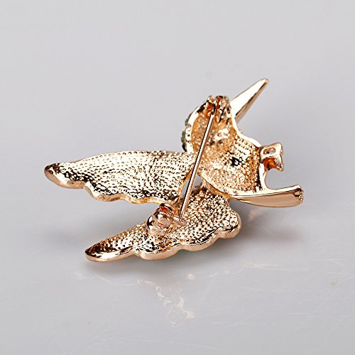 Superior Lovely Flying Hummingbird Brooch Lady Multicolor Sparkling Crystals Animal  Breastpin Pin Christmas Gift