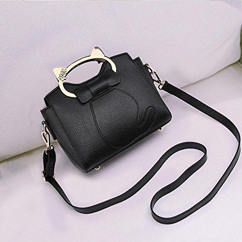 GUANGMING77 Kleine Tasche Tasche Lady Tide Mini Messenger Bag Schulter black