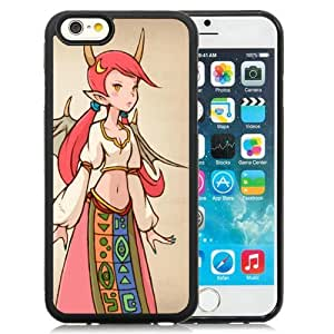 Popular And Unique Designed Cover Case For iPhone 6 4.7 Inch TPU With Final Fantasy Final Fantasy Tactics A Girl Wings Horns black Phone Case BY icecream design
