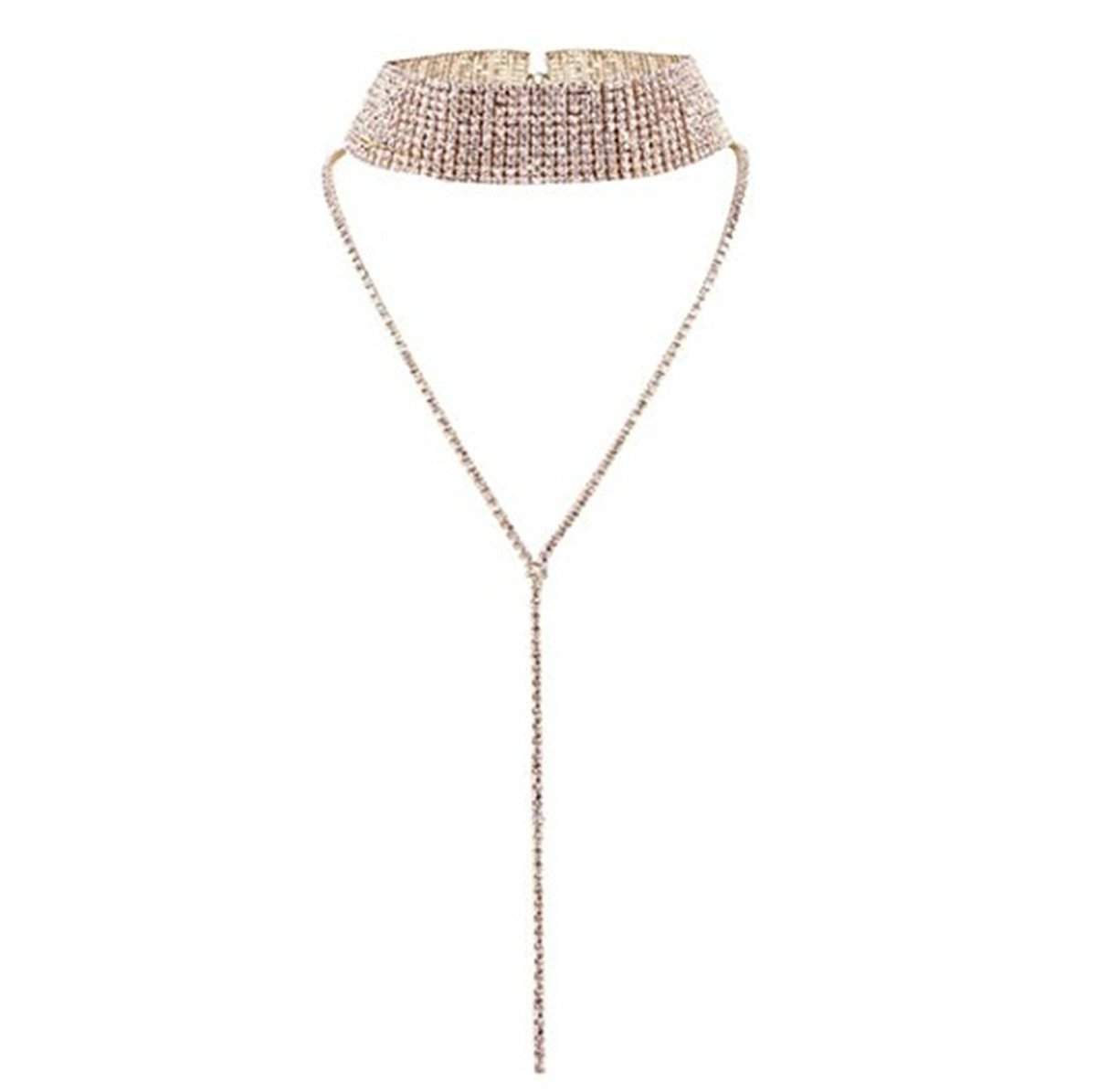 Yinew Voll Nachahmung Diamant Kristall Strass Multi Collier
