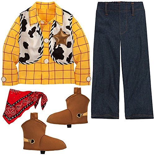 Disney Store Toy Story Sheriff Woody Halloween Costume Size XXS 3 3T]()