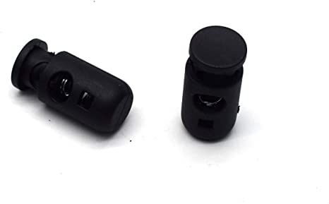 Pack of 20 Antrader Spring Loaded Cord Locks Single Hole Nylon Toggle Stopper for 1//4 in Cord