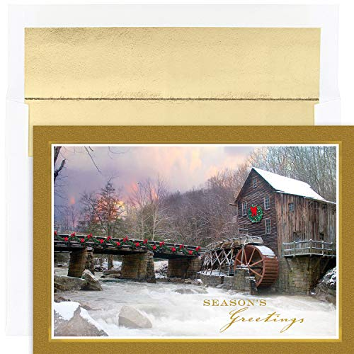 Masterpiece Studios Holiday Collection 18 Cards / 18 Foil Lined