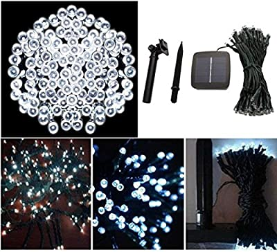 1 Pcs Matchless Popular 200x LED Solar Power Nightlight Decorations Party Waterproof String Fairy Colors White