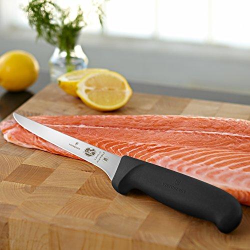 Victorinox Swiss Army Cutlery Fibrox Pro Boning Knife, Flexible Blade, 6-Inch