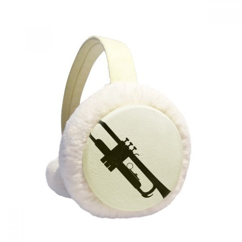 Horn Classical Music Vitality Sounds Winter Earmuffs Ear Warmers Faux Fur Foldable Plush Outdoor Gift