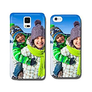Happy kids playing winter cell phone cover case iPhone5