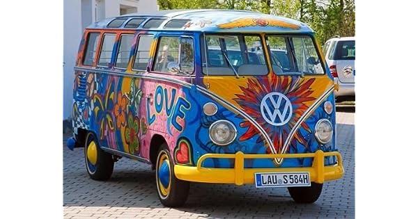 Amazon.com: cakeusa 22 Windows Hippie VW Samba camión Paz ...