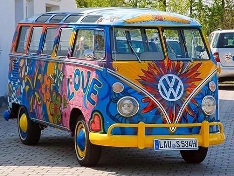 cakeusa VW 22 Windows Samba Bus Hippie Paz Van cumpleaños 1 ...