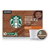 Starbucks Medium Roast K-Cup Coffee Pods — Breakfast Blend for Keurig Brewers — 1 box (10 pods)