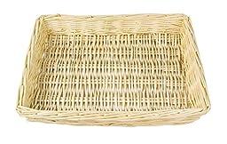 Natural White Willow Snack Basket/ File Tray Organizer - 13\