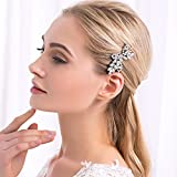 Barrette Hair Pin Rhinestone Cubic-Zirconia CZ #P2B ROYAL BRIDAL in Gift Box