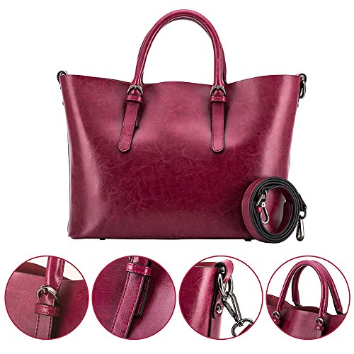 Bags Tote Women for Shoulder Handbags Red Purses and Wallets Satchel IqBYPH0q