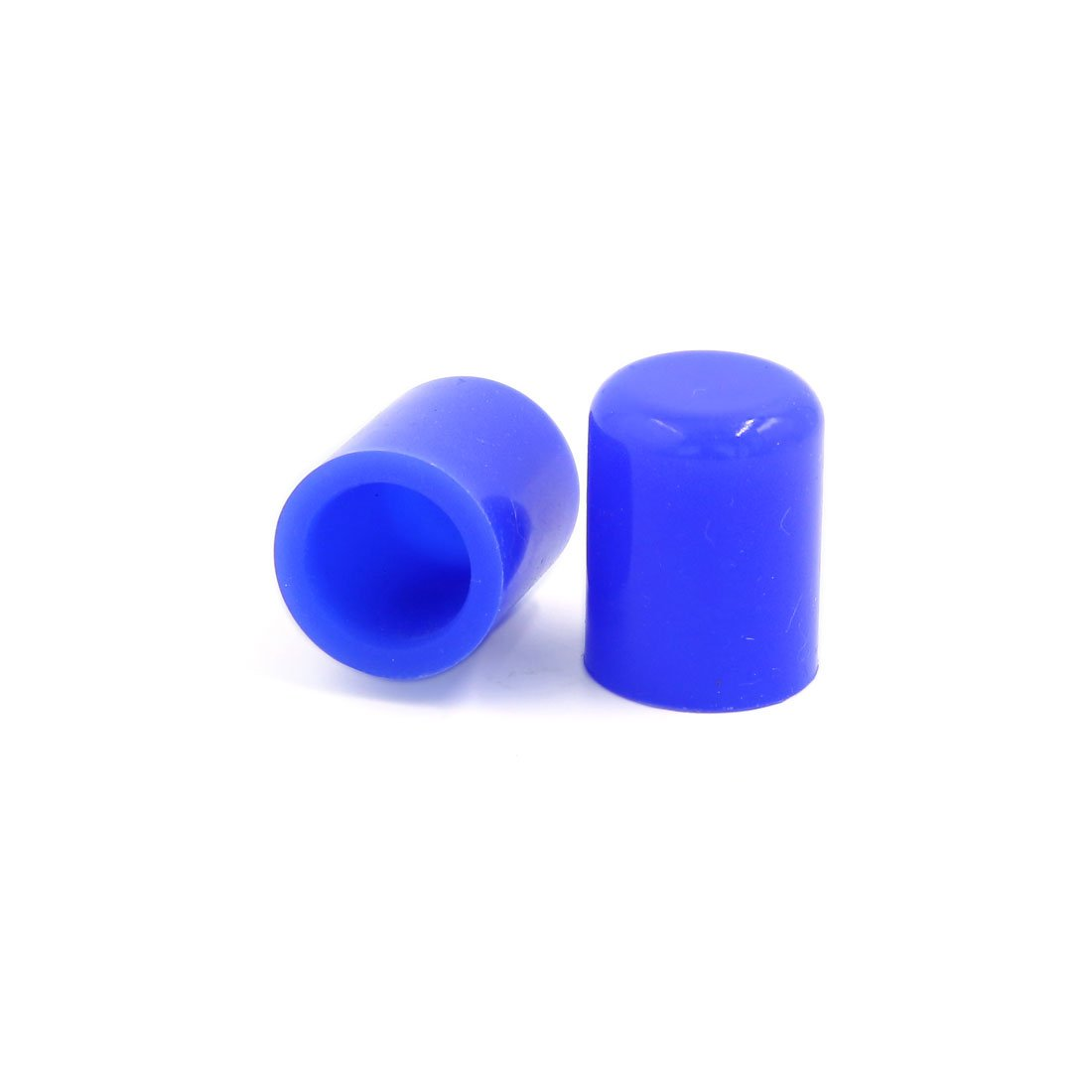 uxcell 2 Pcs Blue 20mm Inner Dia Silicone Blanking Cap Vacuum Hose End