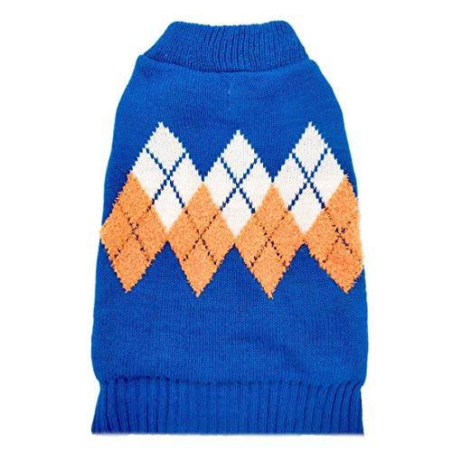 kyeese Dog Sweater Dog Pullover Knitwear Fall Winter Warm Back Length 16