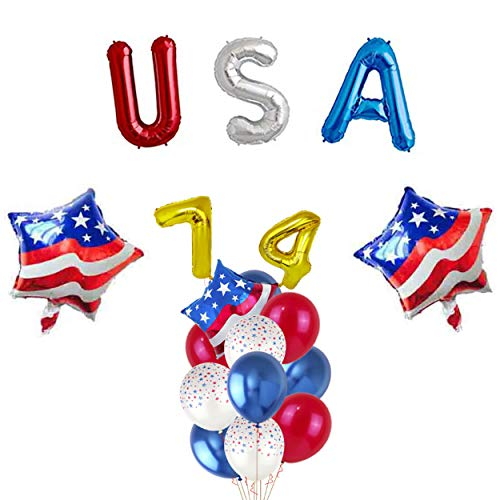 USA Independence Day Decorations Balloons, American Flag Balloons/Patriotic Party Balloons / 4th of July Balloons Sets for Celebrating American Independence Day Party