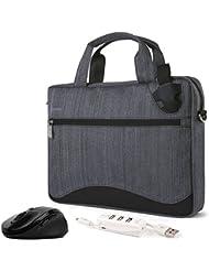 VanGoddy Wave Slim Anti Theft Messenger Bag w/ Mouse & USB Hub for Lenovo Flex / ThinkPad / IdeaPad / Yoga / Legion...