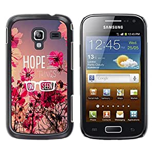 Stuss Case / Funda Carcasa protectora - Hope Floral Summer Field Message Flowers - Samsung Galaxy Ace 2 I8160 Ace II X S7560M