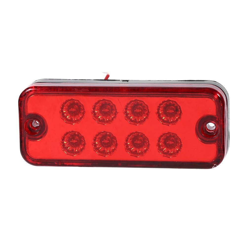 6Pcs 8 LED Indicatore Luminoso indicatore di Posizione Laterale per Camion rimorchio Camion VGEBY1 Indicatore di direzione Laterale