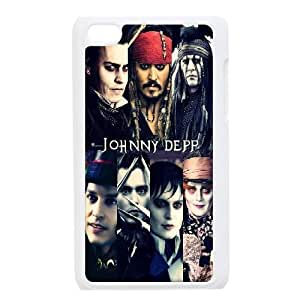 Ipod Touch 4 Case, Men Design JOHNNY DEPP Sweeney Todd Case for Ipod Touch 4 {White}