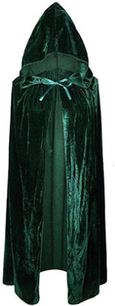 Unisex Kids Velvet Hooded Cloak Halloween Cape Role Cosplay Costumes