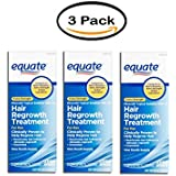 Pack of 3 - Equate Extra Strength Minixodil Topical Solution USP, 5% Hair Regrowth Treatment for Men, 2 Oz